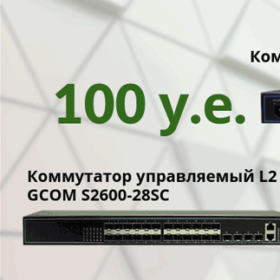 Hot proposal from GCOM: L2 managed switches at unbelievably low prices!
